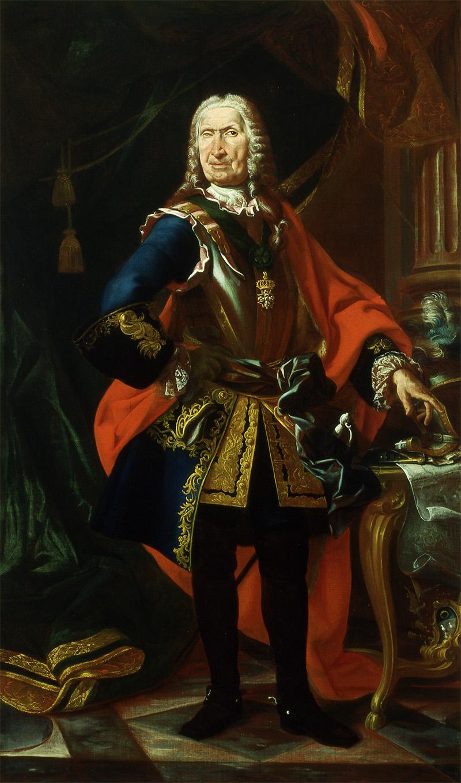 Giuseppe Amico conte di CastellAlfero -ignoto pittore piemontese del '700 - Asti - Museo Civico Palazzo Mazzetti