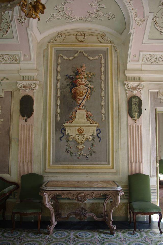 Castello di Castell'Alfero - particolare del Salone Verde