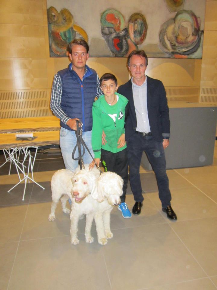 Milo Julini con Carlo Marenda e il figlio di Giamesio