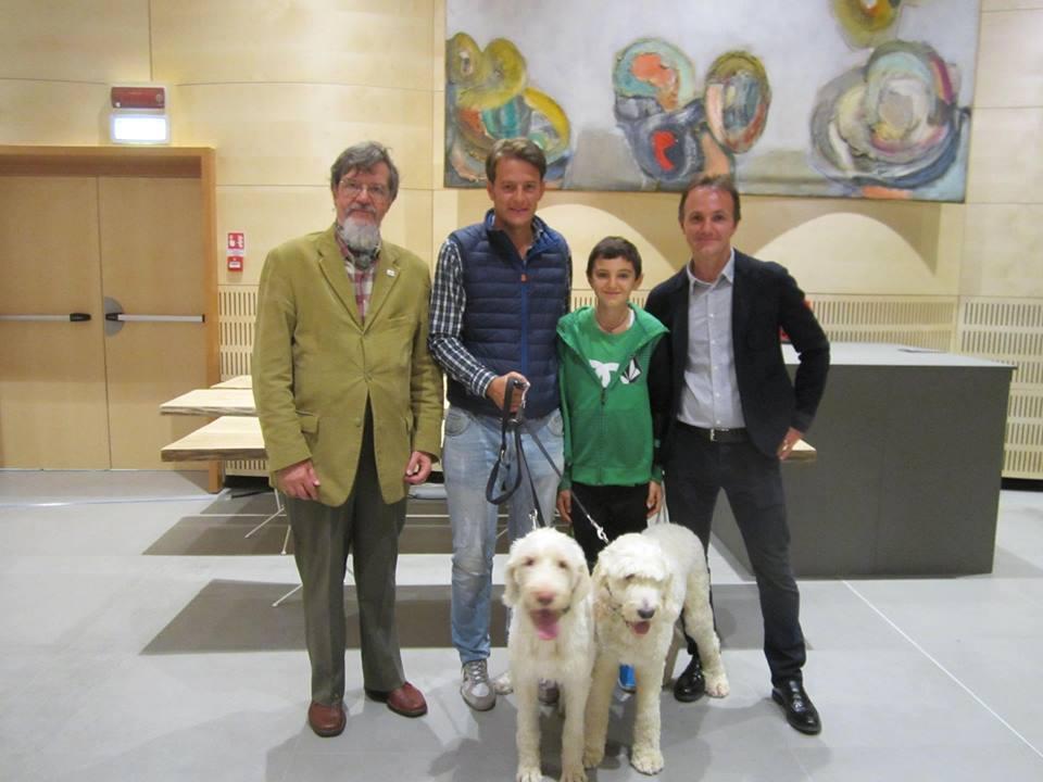 Milo Julini con Carlo Marenda e il figlio di Giamesio.