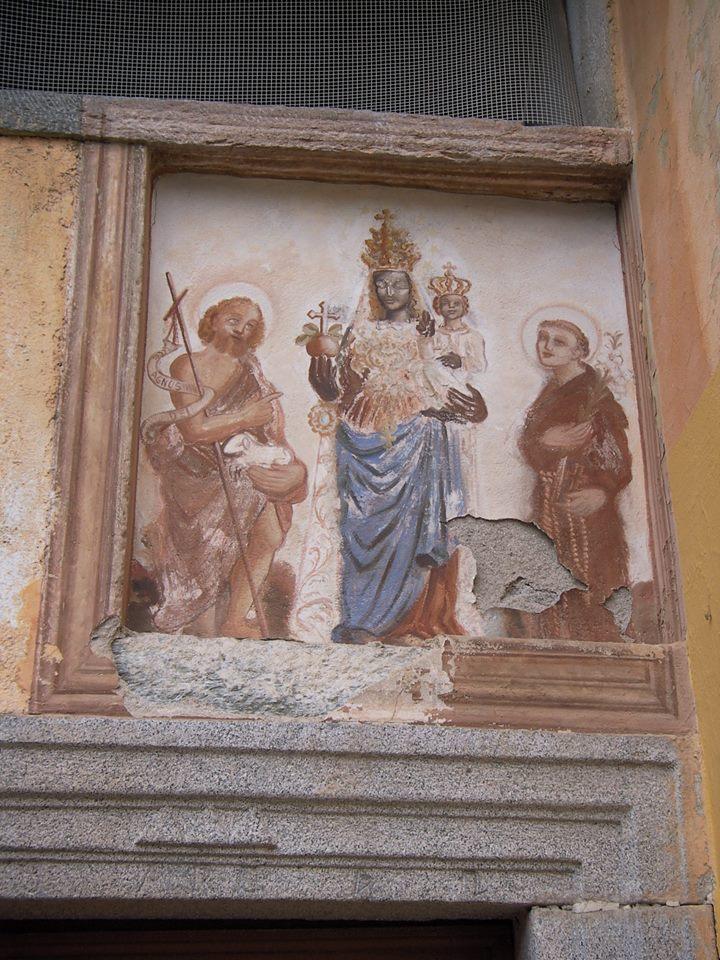 Madonna d'Oropa - affresco devozionale