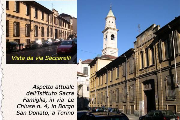 Il teologo torinese Gaspare Saccarelli, benefattore di borgo San Donato, e l'Istituto della Sacra Famiglia
