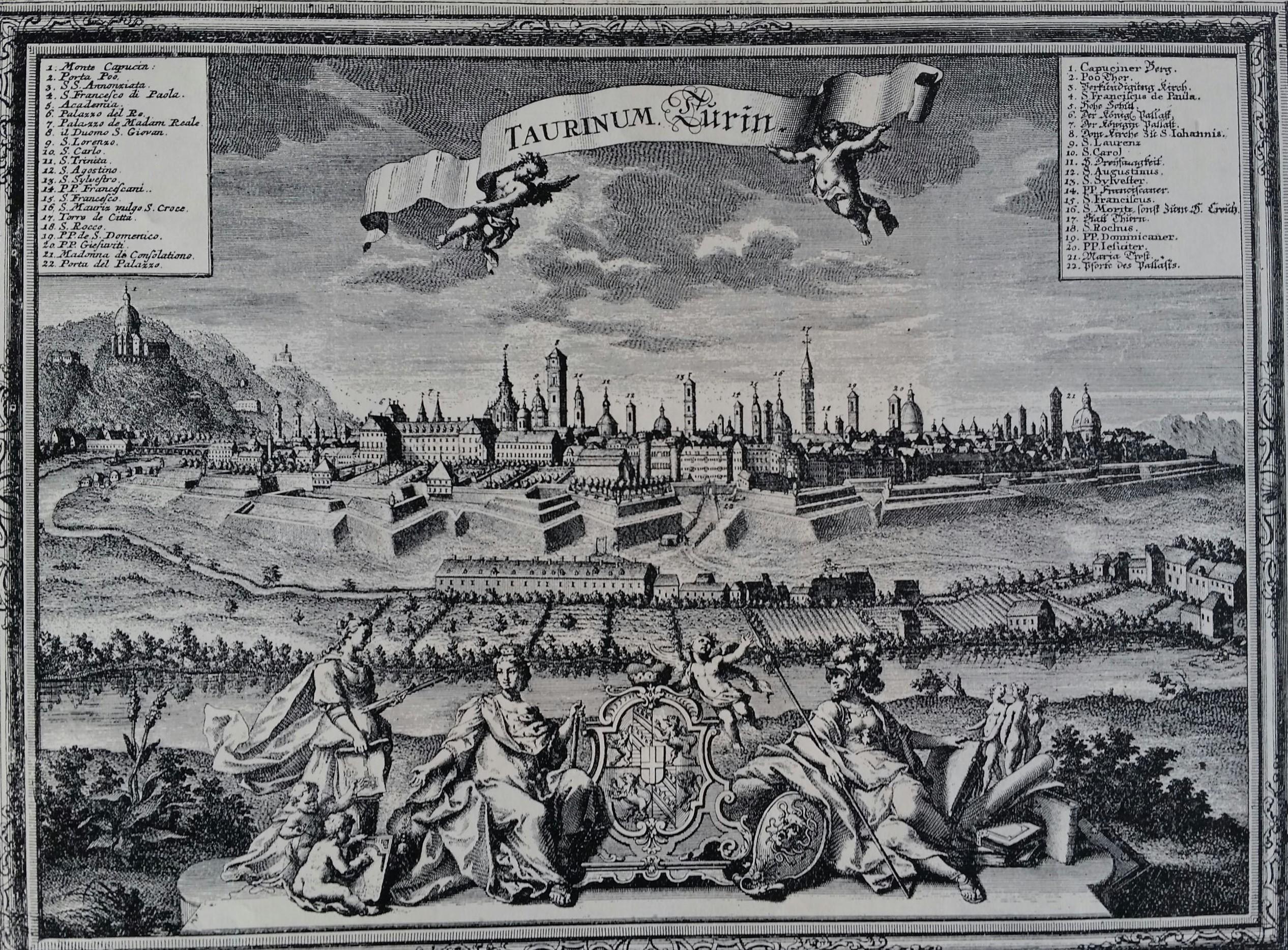 Torino, la capitale sabauda, nel 1718