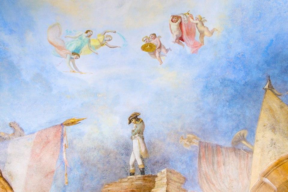 Affresco a tema napoleonico in Villa Delavo - Spinetta Marengo