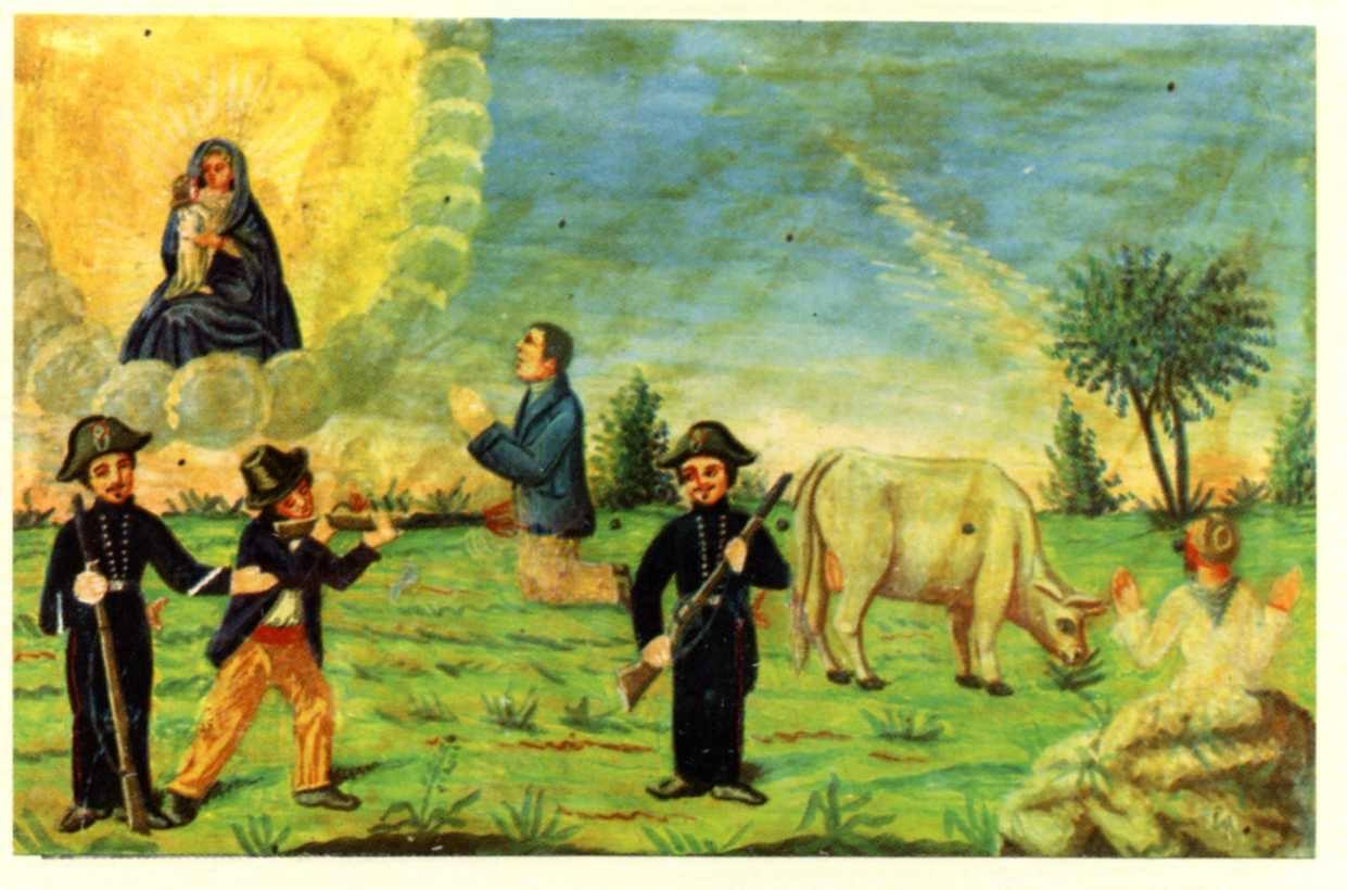 Delit an Piemont: armus-ciand ant ij papé dij tribunaj - due malfattori, una contadina e un ex voto