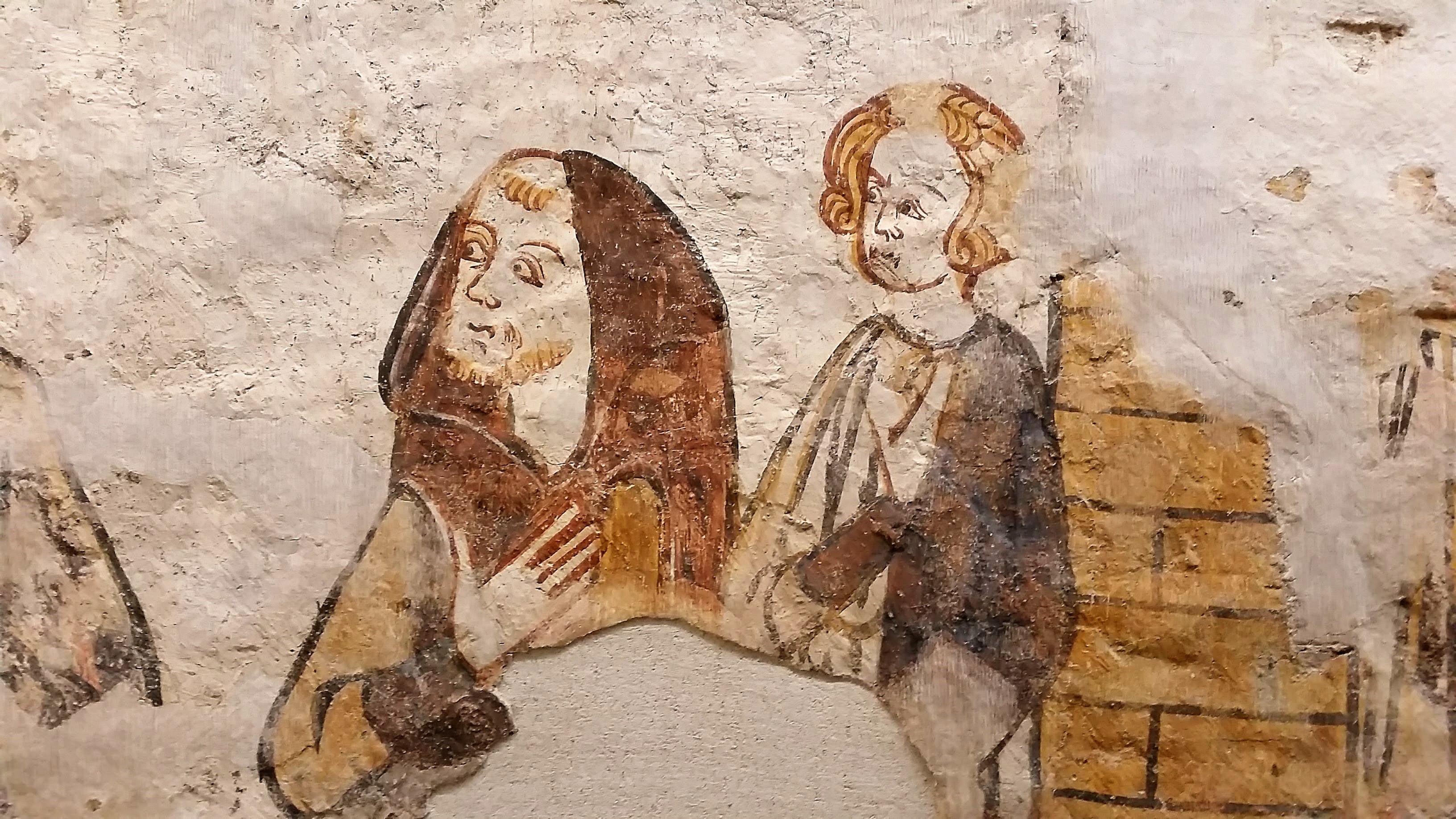 """""""Carlo Magno va alla guerra"""", un prezioso ciclo di pitture murali gotiche dal castello di Cruet in Savoia alla Corte Medievale di Palazzo Madama"""