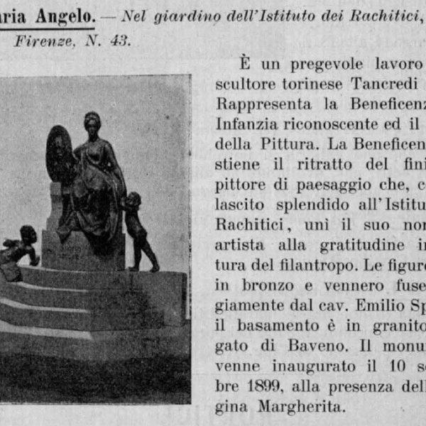 """Il monumento al torinese Angelo Beccaria, pittore paesaggista e benefattore dell'Istituto """"Regina Maria Adelaide"""""""